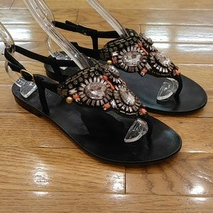 J CREW COLLECTION ITALIAN LEATHER SANDALS 7